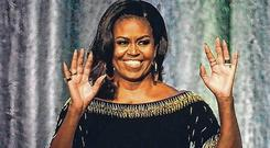 World is changing: Michelle Obama at the O2 Arena. Photo: Kirsty O'Connor/PA Wire