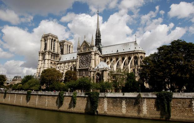The cathedral is on an island in the Seine. Photo: REUTERS