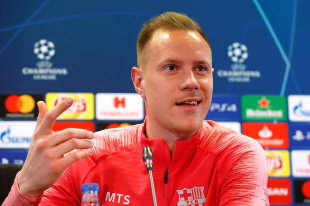 Barcelona's Marc-Andre ter Stegen. Photo: Reuters