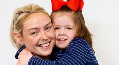 'Tough little girl': Yvonne Shannon with daughter Ruby (4), from Pimlico, Dublin