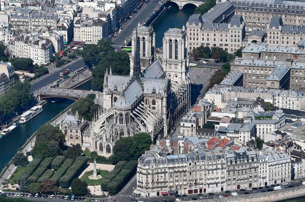 Most Gothic of churches: Notre-Dame Cathedral in Paris as it looked before renovation work started and a fire took hold. Photo: AFP/Getty Images