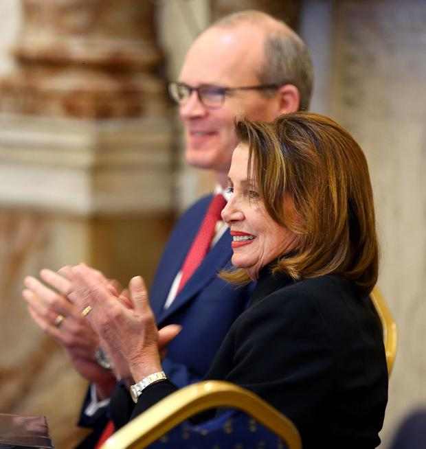 Pelosi arrives in Ireland following UK-US Brexit trade deal warning