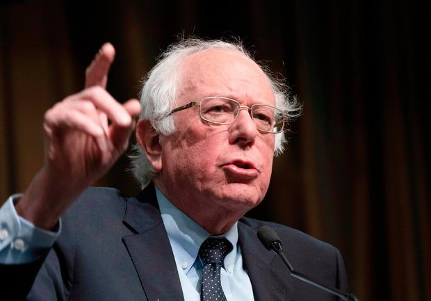 Bernie Sanders: Challenged Trump to release his tax returns. Photo: Don Emmert/Getty Images