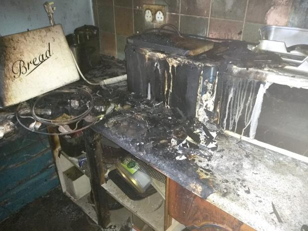 Captions: Photos inside the Houlihan family home in Rose Court, Keyes Park, Southill, Limerick, show the aftermath of a fire which claimed the life of former Labour Party councillor Seamus Houlihan on June 2, 2018