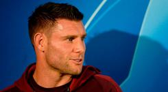 Taking nothing for granted: James Milner is fully focused on tonight's task. Photo: AFP/Getty Images
