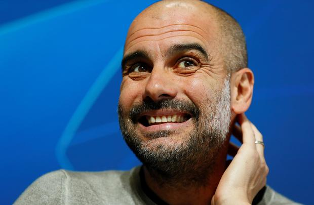 Pep Guardiola wants the City supporters to play their part as City bid to overcome a 1-0 first-leg deficit. Photo: Action Images via Reuters/Jason Cairnduff