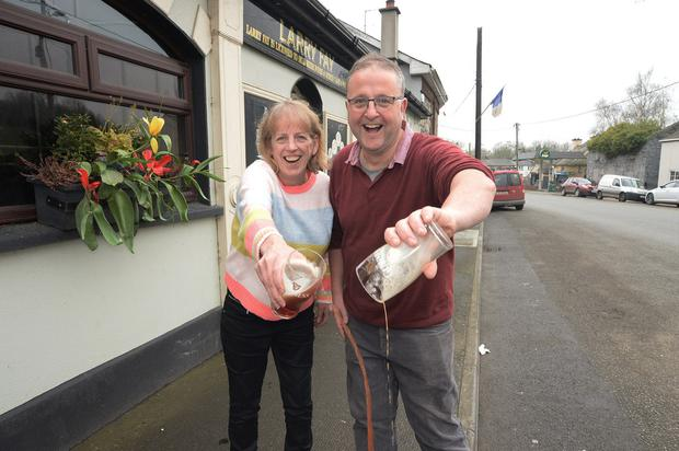 Staying shut: Drumconrath, Co Meath, publicans Pauline Fay and Dermot Muldoon, whose pubs will be remaining closed. Photo: Seamus Farrelly