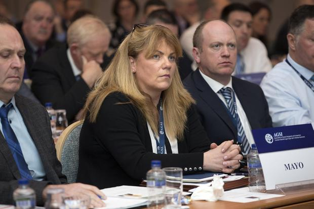 Attentive: Delegates listen to Garda Commissioner Drew Harris at the AGSI annual conference in Cavan. Photo: Tony Gavin