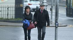 Court arrival: Patrick Quirke and his wife Imelda yesterday. Photo: Collins