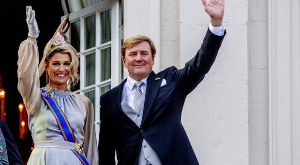 King Willem-Alexander of The Netherlands and Queen Maxima of The Netherlands at Palace Noordeine for the annual opening of the Parliamental year Prinsjesdag on September 18, 2018 in The Hague, Netherlands. (Photo by Patrick van Katwijk/WireImage)