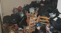 The stench inside the property was vile with the tenants having kept the windows closed for over a year. Photo: RedFM