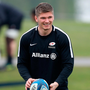 Owen Farrell warms up during a Saracens training session. Photo: David Rogers/Getty Images