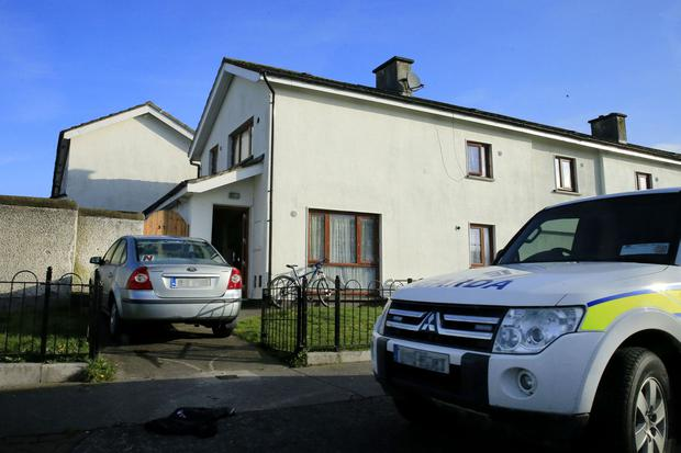 RAIDED: The Corduff Road property raided in the early morning yesterday, in a major search operation by gardai
