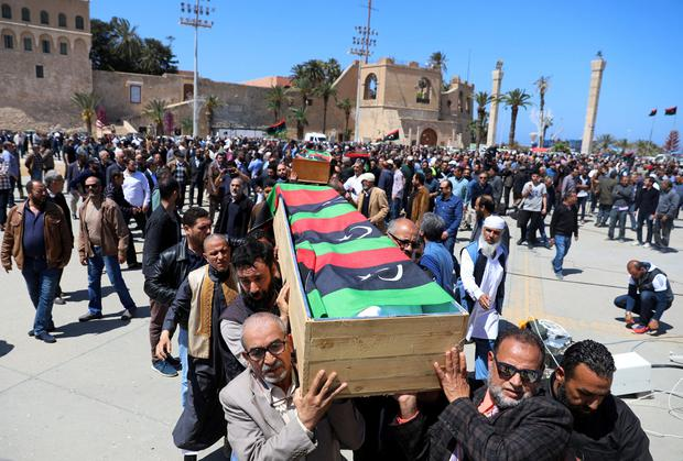 Death toll from fighting over Libyan capital now at 205