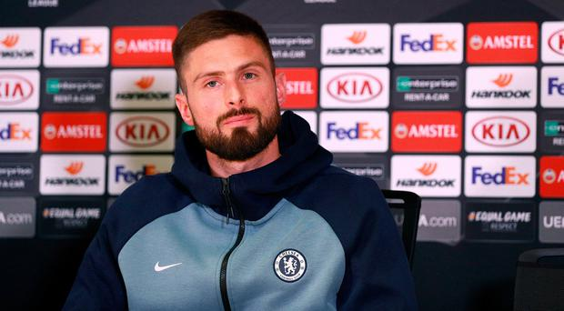 Giroud admits 'frustration' at limited Chelsea role