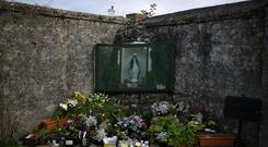 Lost children: The shrine dedicated to the babies who died at Tuam. Photo: Reuters