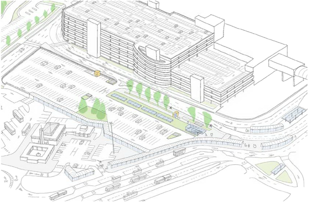 Looking good: An artist's view of the proposed Dublin MetroLink station at Dublin Airport
