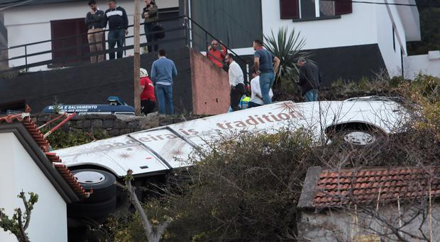 Plane carrying Madeira bus crash survivors lands in Germany