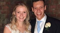 Milly and Toby Savill, who have been named as the British man and woman who died in a buggy accident on the Greek island of Santorini Photo: Press Association