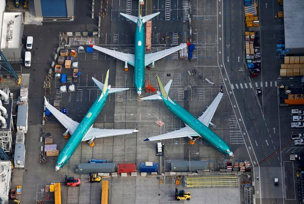 Grounded: Boeing 737 Max planes. Photo: Reuters