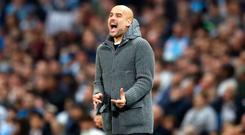 Guardiola: Quadruple hopes dashed. Photo: PA