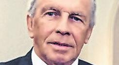 Legend: John Giles said time was right for John Delaney to resign