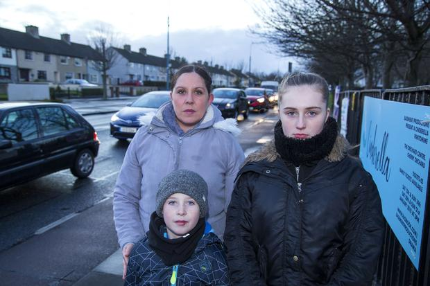 Selina Hogan pictured with her children Scott (9) and Lauren (15) PIC COLIN O'RIORDAN