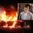 Lyra McKee (inset) died after shots were fired in Derry