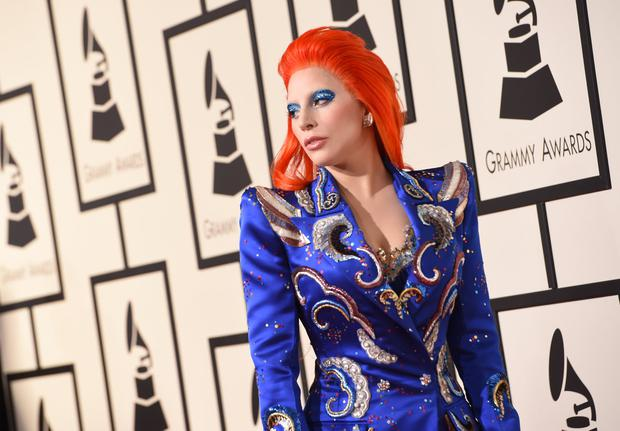 Singer Lady Gaga arrives on the red carpet during the 58th Annual Grammy Music Awards in Los Angeles February 15, 2016. AFP PHOTO/ Valerie MACON / AFP / VALERIE MACON