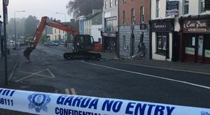 Two cash machines were ripped from separate banks in Kells