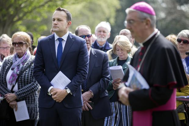 Taoiseach Leo Varadkar joins archbishop Diarmuid Martin for the Stations of the Cross in the Phoenix Park Photo: Tony Gavin