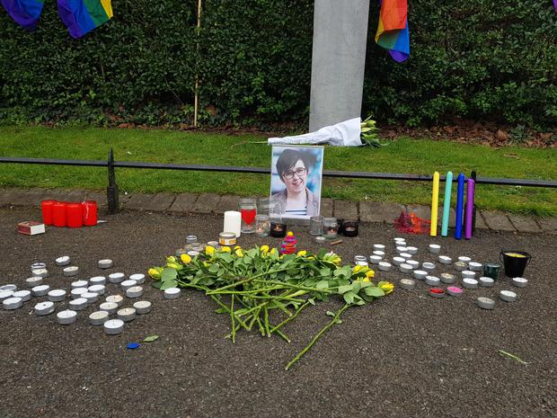 A vigil is being held in St Stephen's Green, Dublin following the killing of journalist Lyra McKee