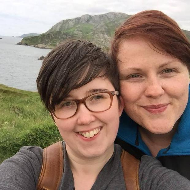Lyra McKee and her partner Sara Canning