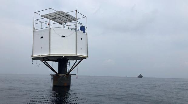 Legal issue: The disputed 'sea home' in the Andaman Sea, off Phuket island in Thailand. Photo: Reuters