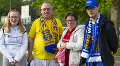 Pictured are Waterford FC supporters Sinead, Declan, Carmel Whelan and Simon Waters Picture: Patrick Browne