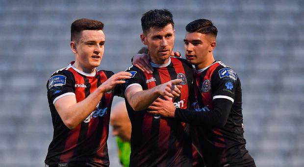 Bohemians rise to second after victory over UCD