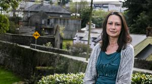 Moving tale: Fiona Cassin outside her current home in Rathdrum, Co Wicklow