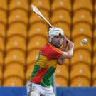 Marty Kavanagh, who hit 0-49 in the league, is the perfect example why Carlow should be in a provincial and not lower-tier competition. Photo: Sportsfile