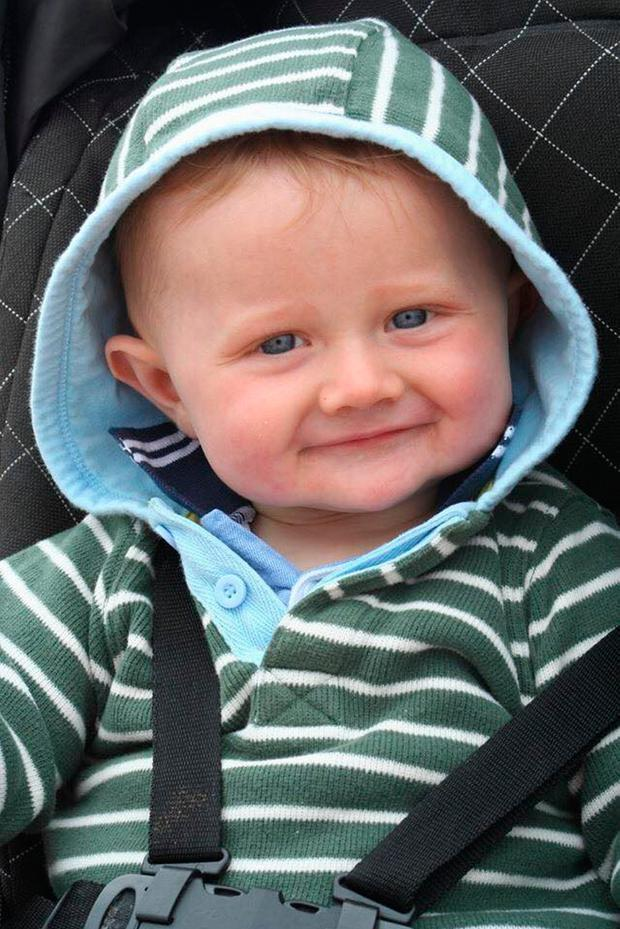 George Burke, who died aged one year, one week and one day on February 22 2012 Photo credit: Rhian Mannings/PA Wire