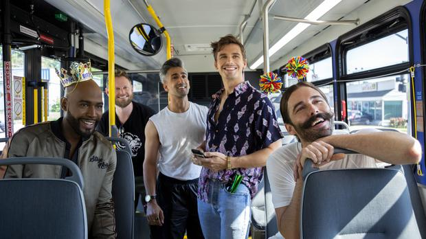 Queer Eye's Jonathan Van Ness said his fellow Fab Five member Tan France has taught him 'things every day' as he wished him happy birthday (Christopher Smith/Netflix/PA)