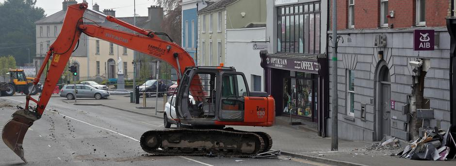 The scene of an ATM robbery in Kells