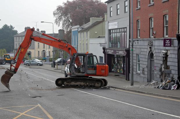 The scene of an ATM robbery in Kells. Photo: Collins