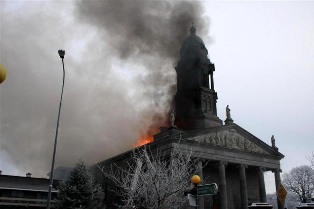 FLASHBACK: St Mel's Cathedral was destroyed by fire on Christmas Day 2009. The rebuilt cathedral reopened in December 2014