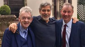 From left to right: Andy Ring, George Clooney and Seamus Clooney at Ballyfin House