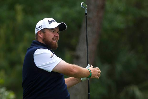Shane Lowry tees off on the eighth hole during the third round of the RBC Heritage golf tournament at Harbour Town Golf Links. Mandatory Credit: Joshua S. Kelly-USA TODAY Sports