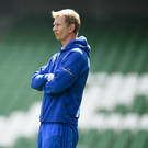 Head coach Leo Cullen during the Leinster Rugby captain's run at the Aviva Stadium in Dublin. Photo by Ramsey Cardy/Sportsfile