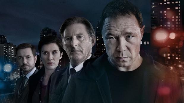 Martin Compston, Vicky McClure, Adrian Dunbar and Stephen Graham from Line Of Duty (BBC)