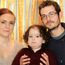 Gillian Sherratt and fiance Stephen Morrison at home with son Harvey, who has scoliosis