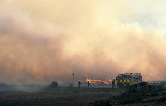Gorse Fires start again around the Mountains in the Loch an Iir area of Donegal. Photo Colm Lenaghan/Pacemaker Press