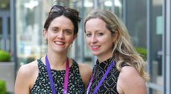 Delegates: Tallaght teachers Jennifer Ward (left) and Nicola O'Reilly at the INTO conference PHOTO: Damien Eagers